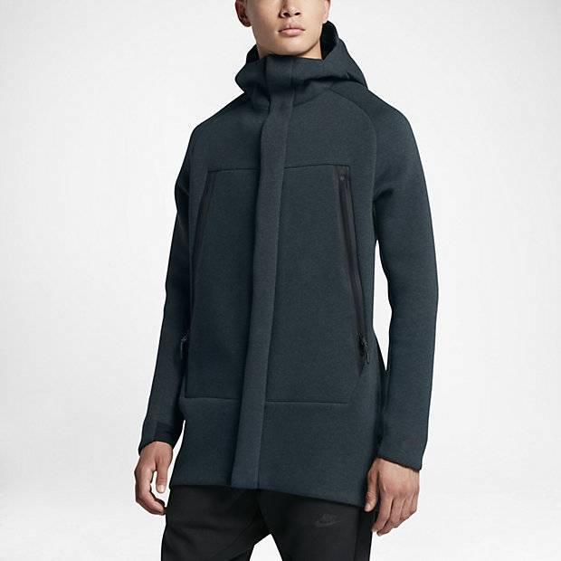 4025e8e2 Мужская парка Nike Sportswear Tech Fleece (Зеленый) (685068034794 ...