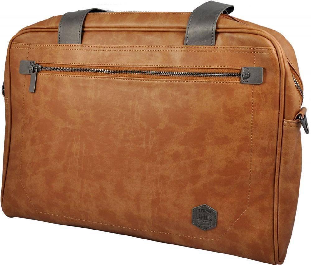 762c0a81cd34 Сумки для ноутбуков Uniq Herald Laptop Messenger Heritage 15.4 (коричневый)